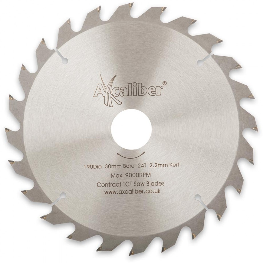 Axcaliber Contract TCT Saw Blade - 190mm x 2.2mm x 30mm T24