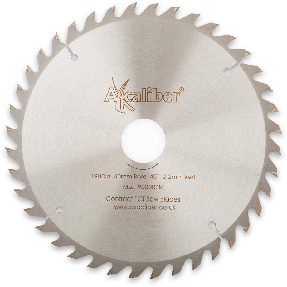 Axcaliber Contract TCT Saw Blade - 190mm x 2.2mm x 30mm T40