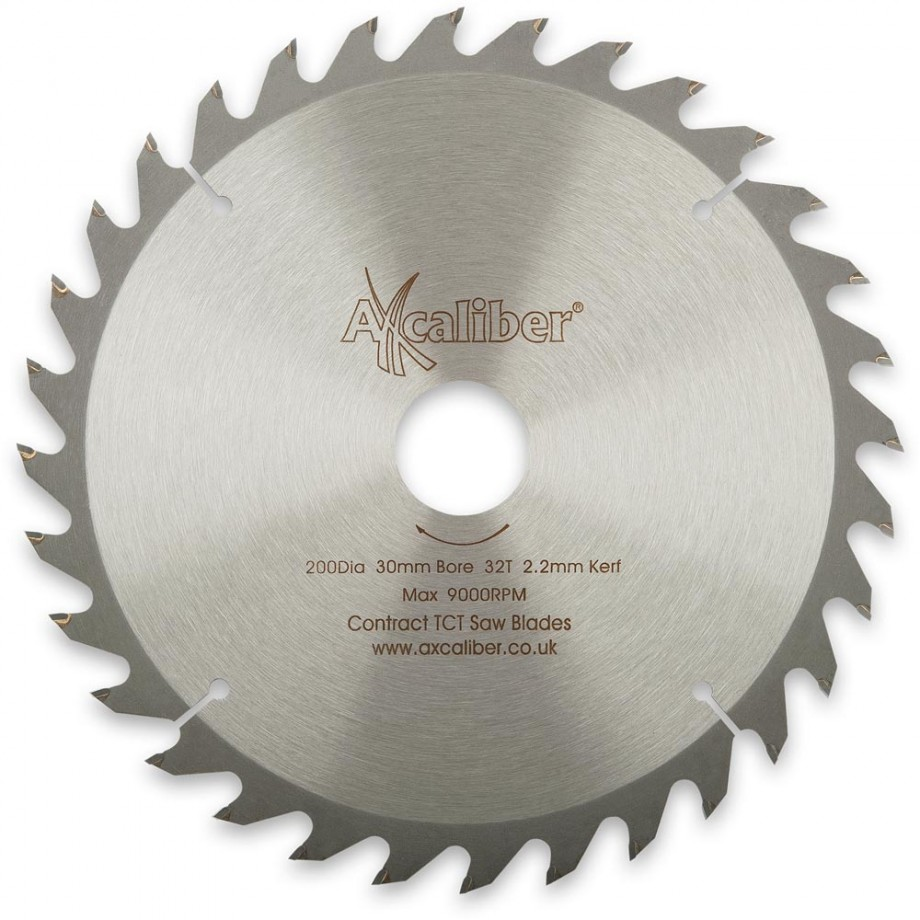Axcaliber Contract TCT Saw Blade General Purpose - 200mm x 2.2mm x 30mm T32