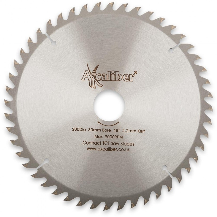 Axcaliber Contract TCT Saw Blade Crosscut - 200mm x 2.2mm x 30mm T48
