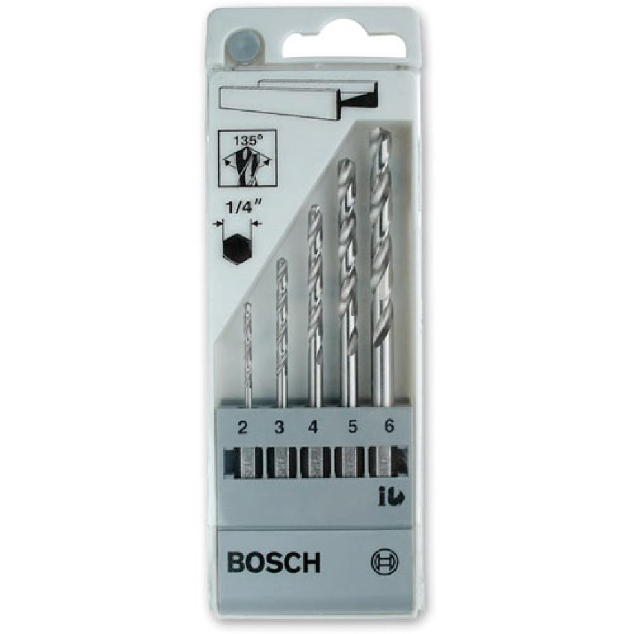 Bosch 5 Piece HSS-G Drill Bit Set (Hex Shank)
