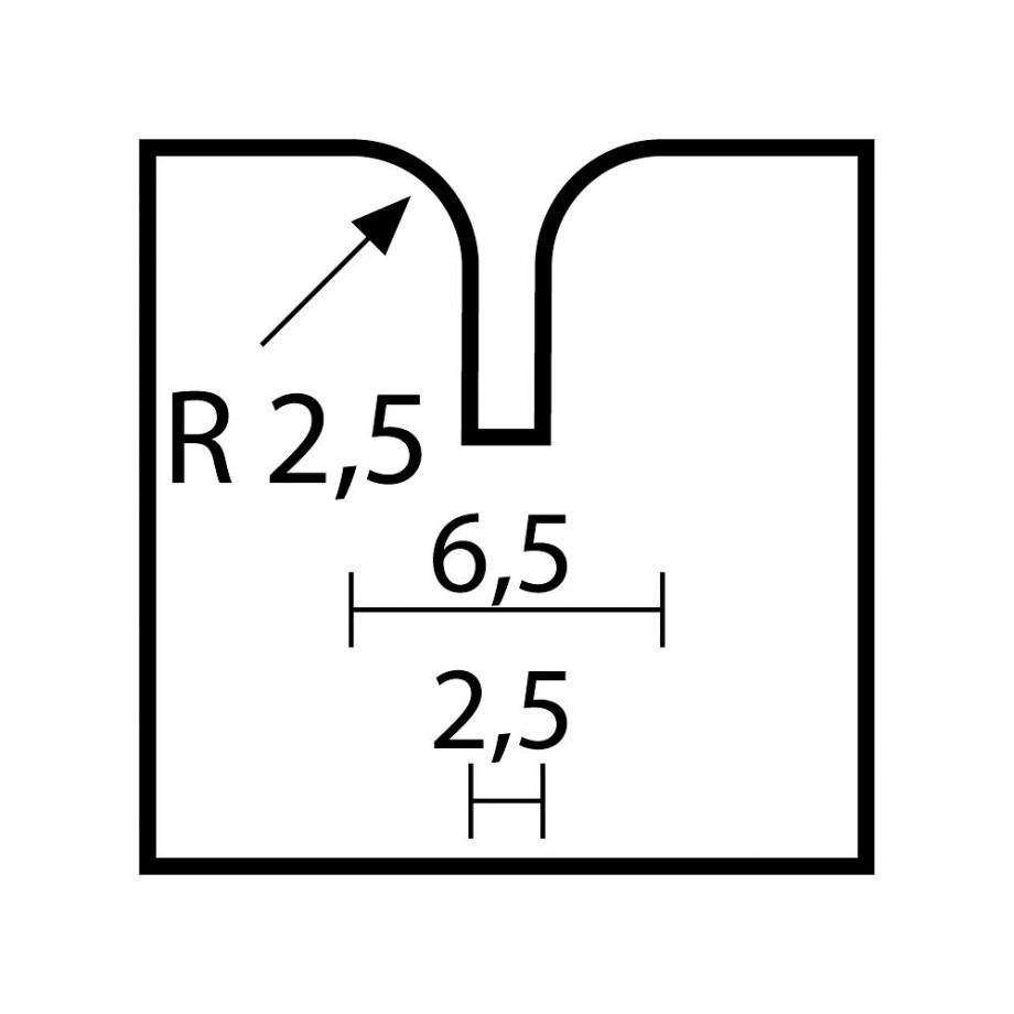 Proxxon Combi Router Bit 2.5mm radius