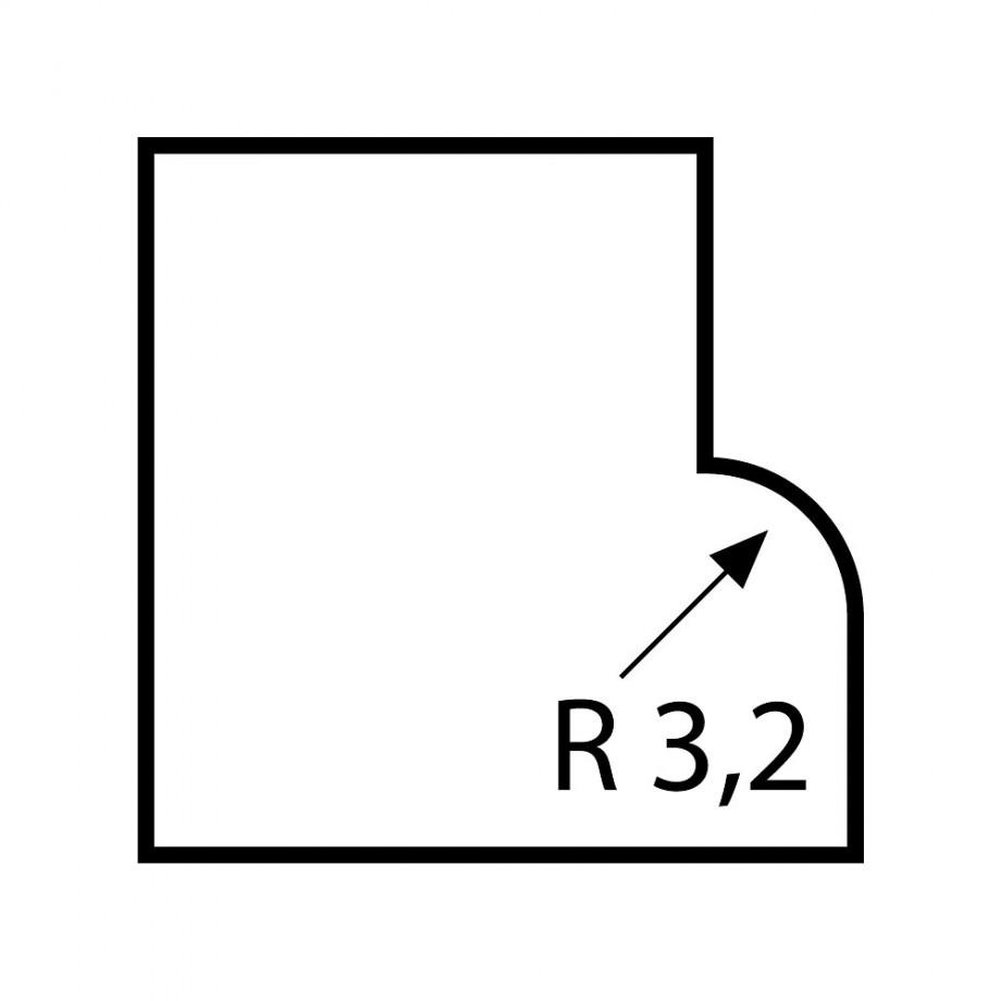 Proxxon Roundover Router Bit 3.2mm radius