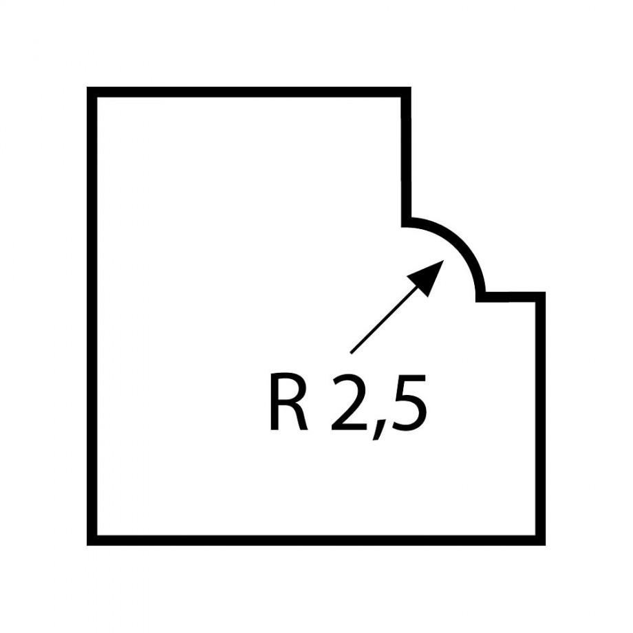 Proxxon Ovolo Router Bit 2.5mm radius