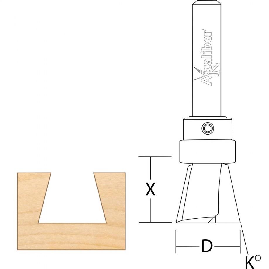 Axcaliber Cutter for Axcaliber Dovetail Jigs (13-19mm Material)