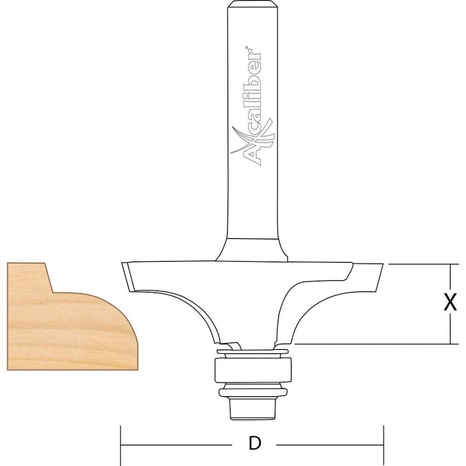 "Axcaliber Thumb Mould Cutter - 1/4"" Shank"