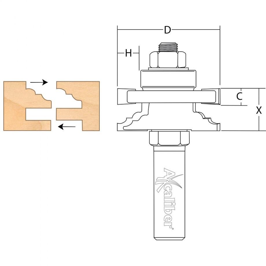 Axcaliber Reversible Stile & Rail Cutter (Classic)