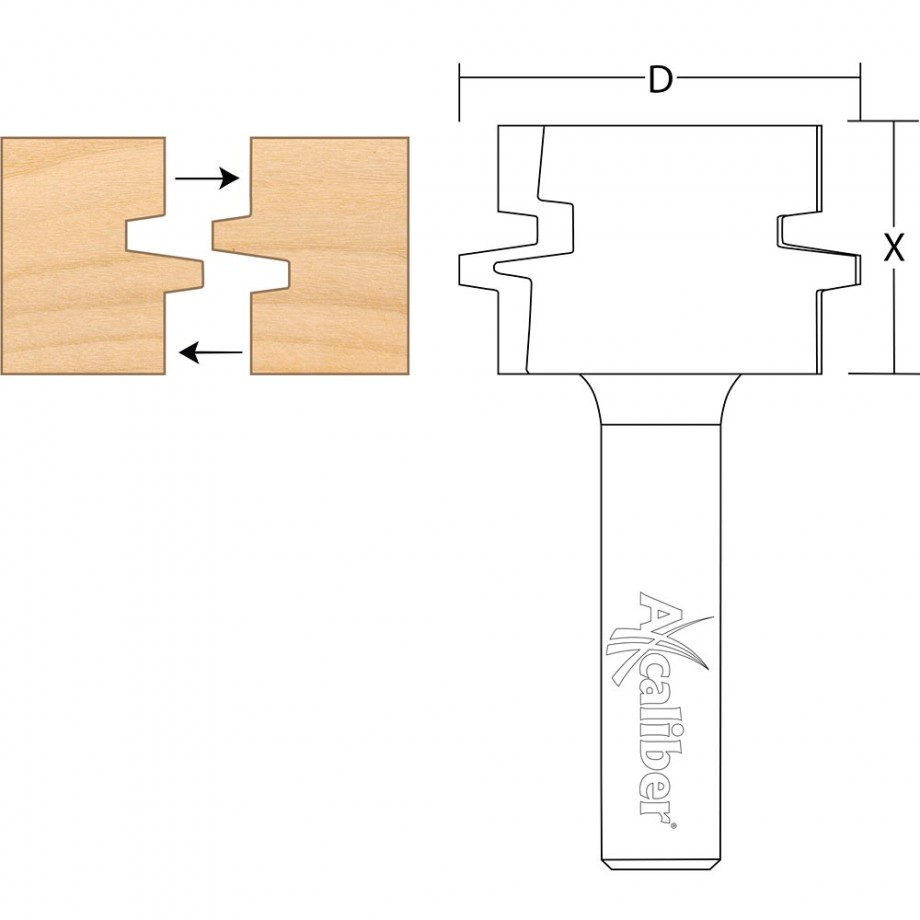 Axcaliber Offset Glue Joint Cutter
