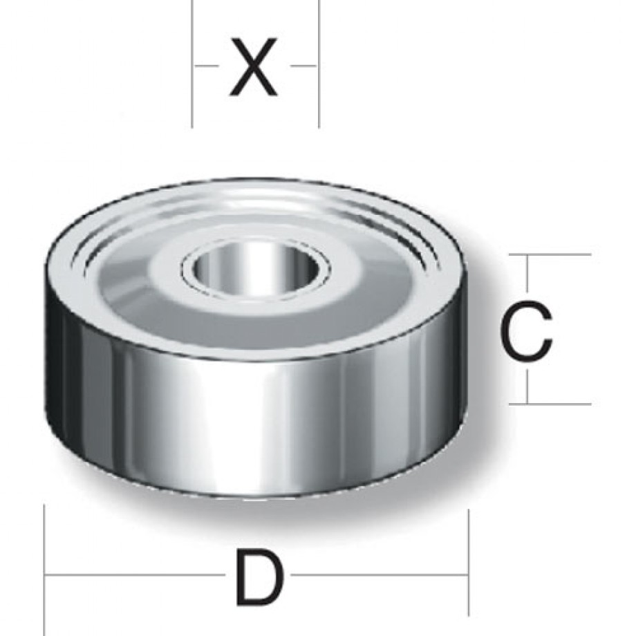 Axcaliber Router Cutter Bearing - D=12.7 - X=4.8mm