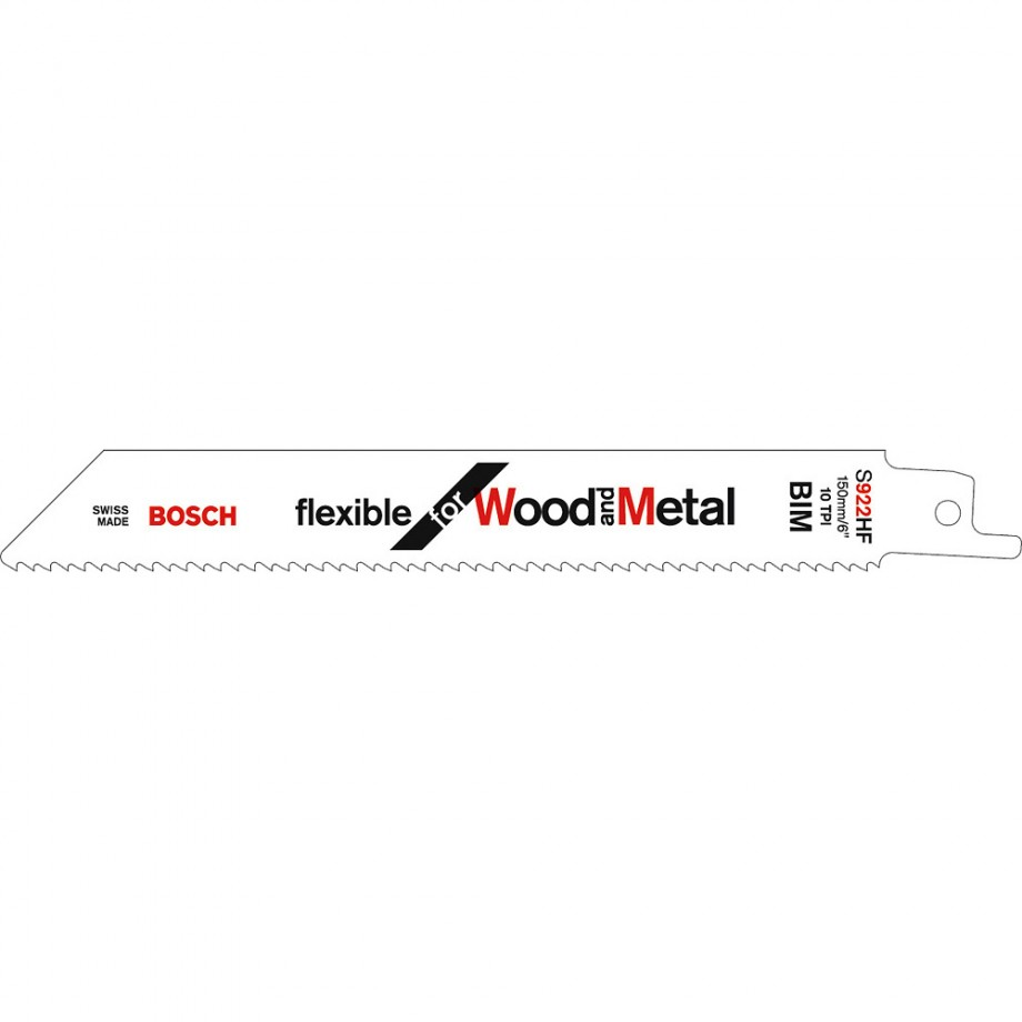 Bosch S922HF Wood and Metal Cutting Sabre Saws Blade