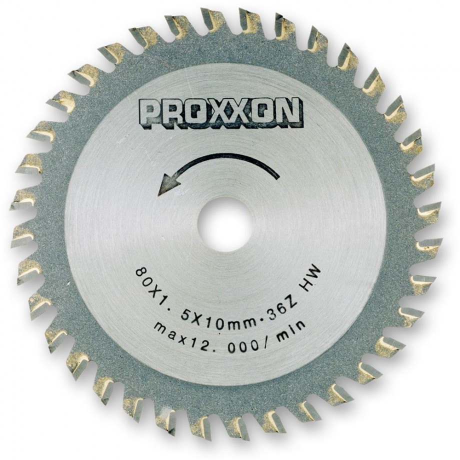 Proxxon TCT Saw Blade  (80mm x 36 teeth)