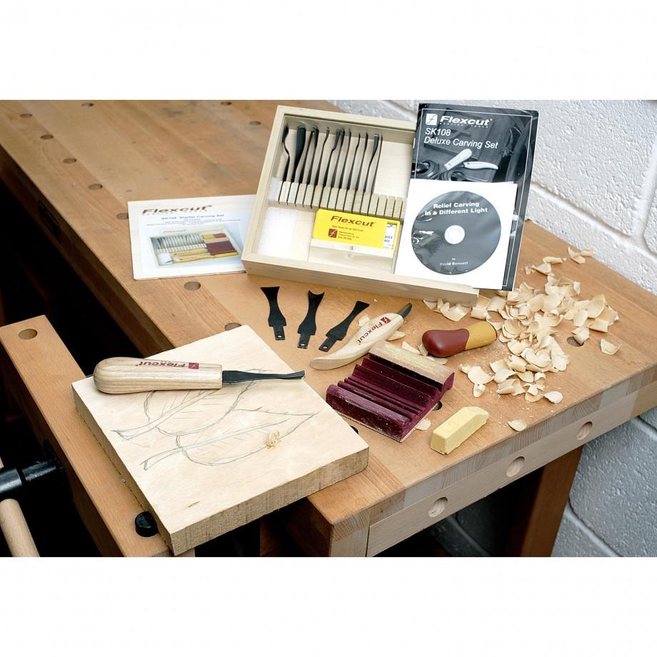Flexcut SK108 20 Piece Starter Carving Set