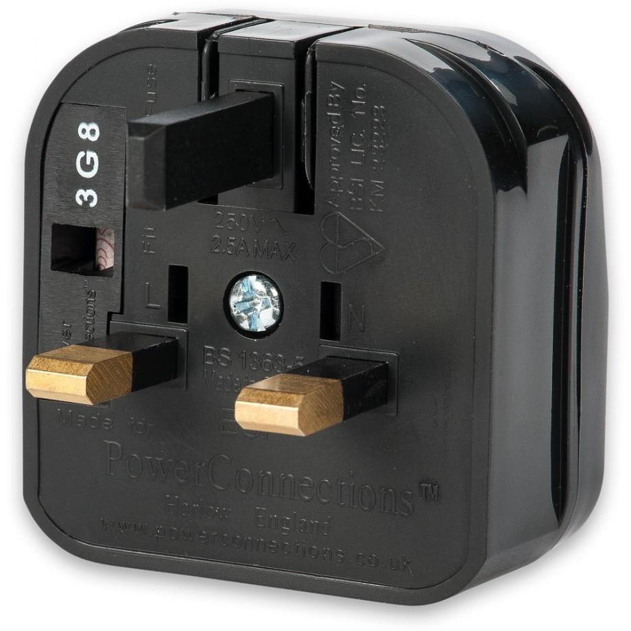 Shaver Plug to UK 13A Adaptor