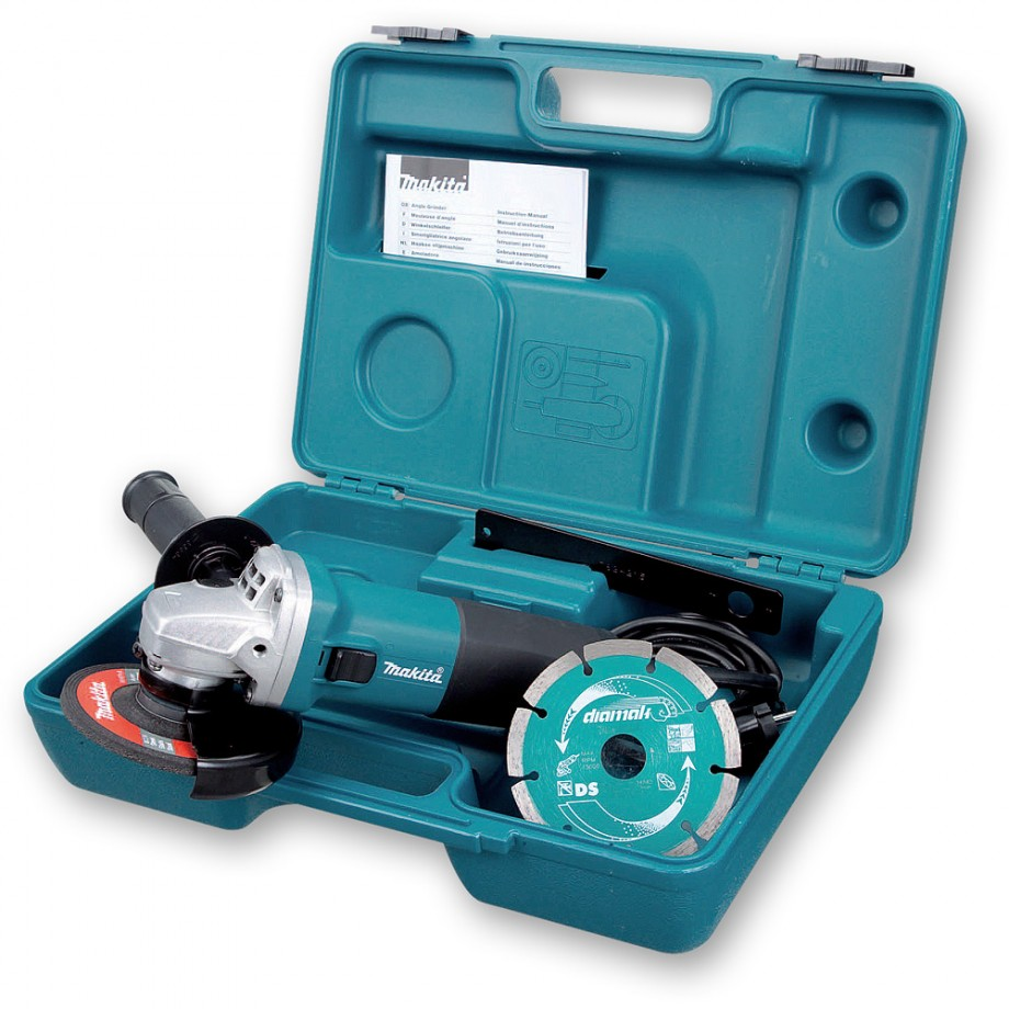 Makita GA4530KD Angle Grinder 115mm with Diamond Disc and Case