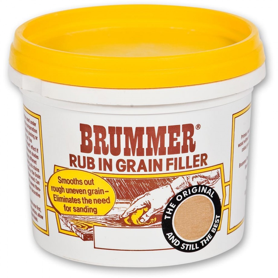 Brummer Rub-In Grain Filler - Medium Oak 300g