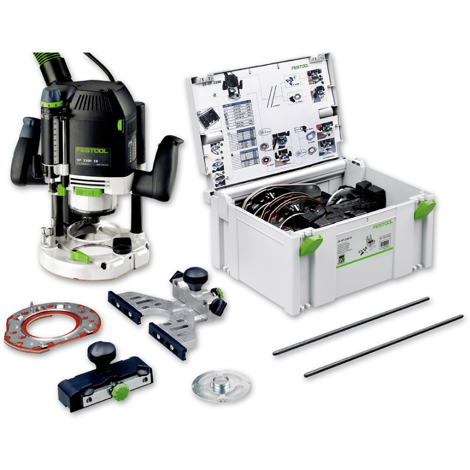 "Festool OF 2200 EB-Set 1/2"" Router inc accessory kit - 230V"
