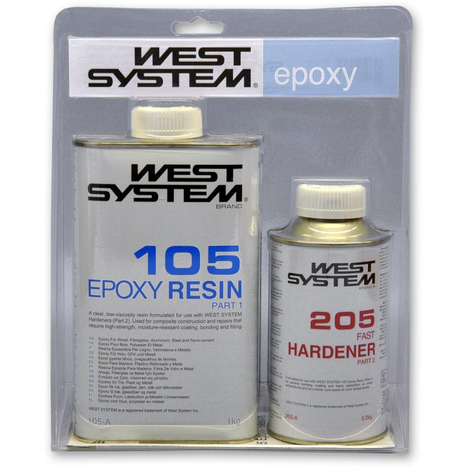 West System 105 with 205 or 206 Epoxy Large Pack