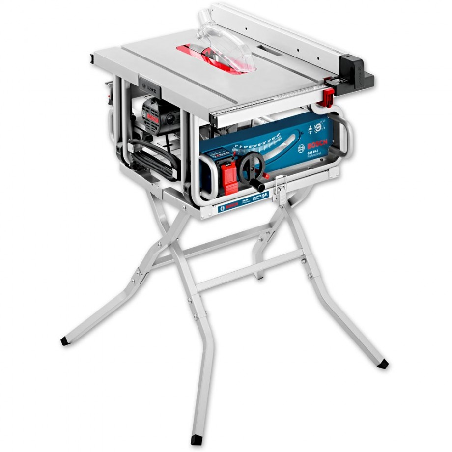 Bosch GTS 10 J 254mm Table Saw with Leg Stand - PACKAGE DEAL