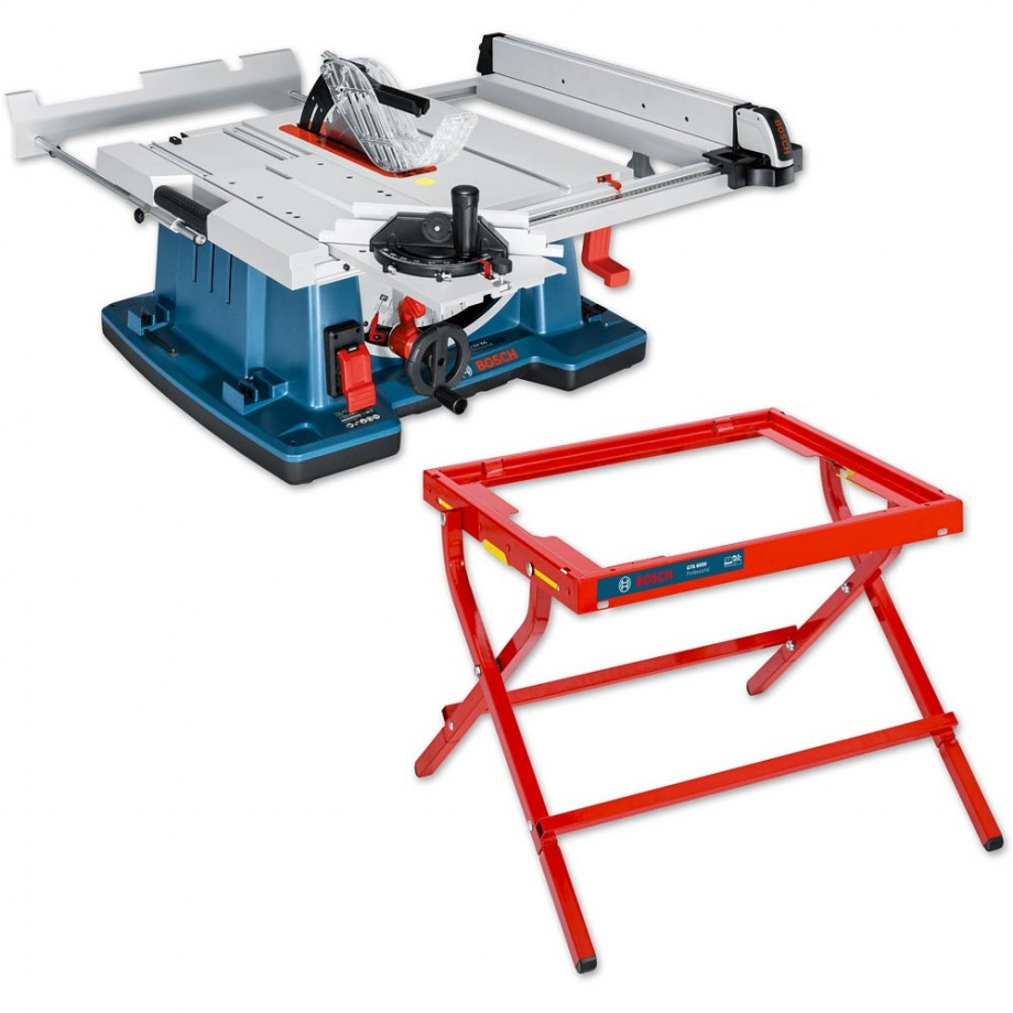 Attirant Bosch GTS 10 XC 254mm Table Saw With Leg Stand   PACKAGE DEAL