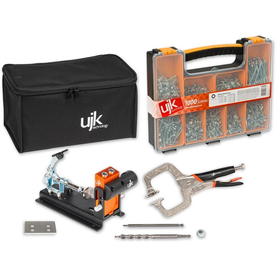 UJK Technology Pocket Hole Jig Complete Kit