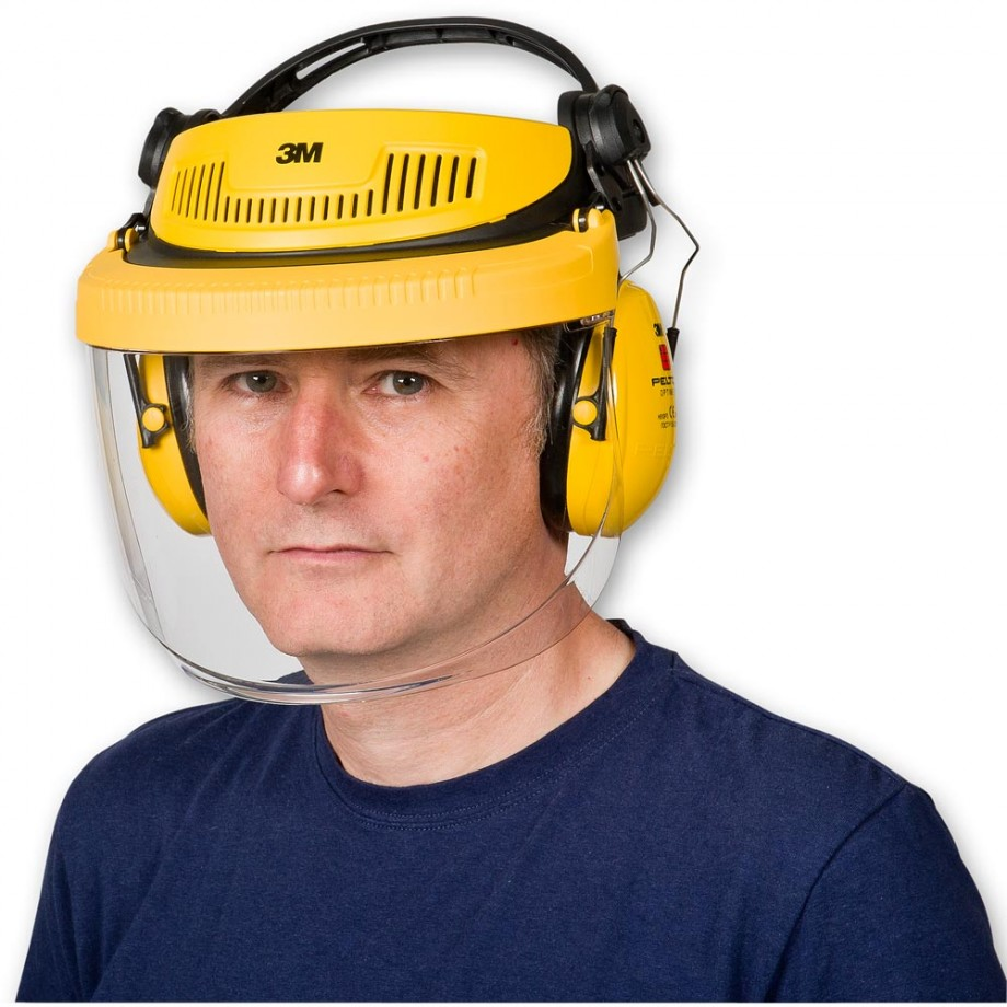 Safety Face Shield >> 3M G500 Face Shield and Ear Defender Combination inc Mesh Visor - Face Shields & Visors - Eye ...