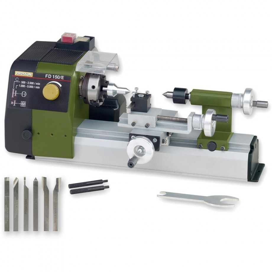 Proxxon FD 150/E Lathe & 6 Piece Cutting Tool Set - PACKAGE DEAL