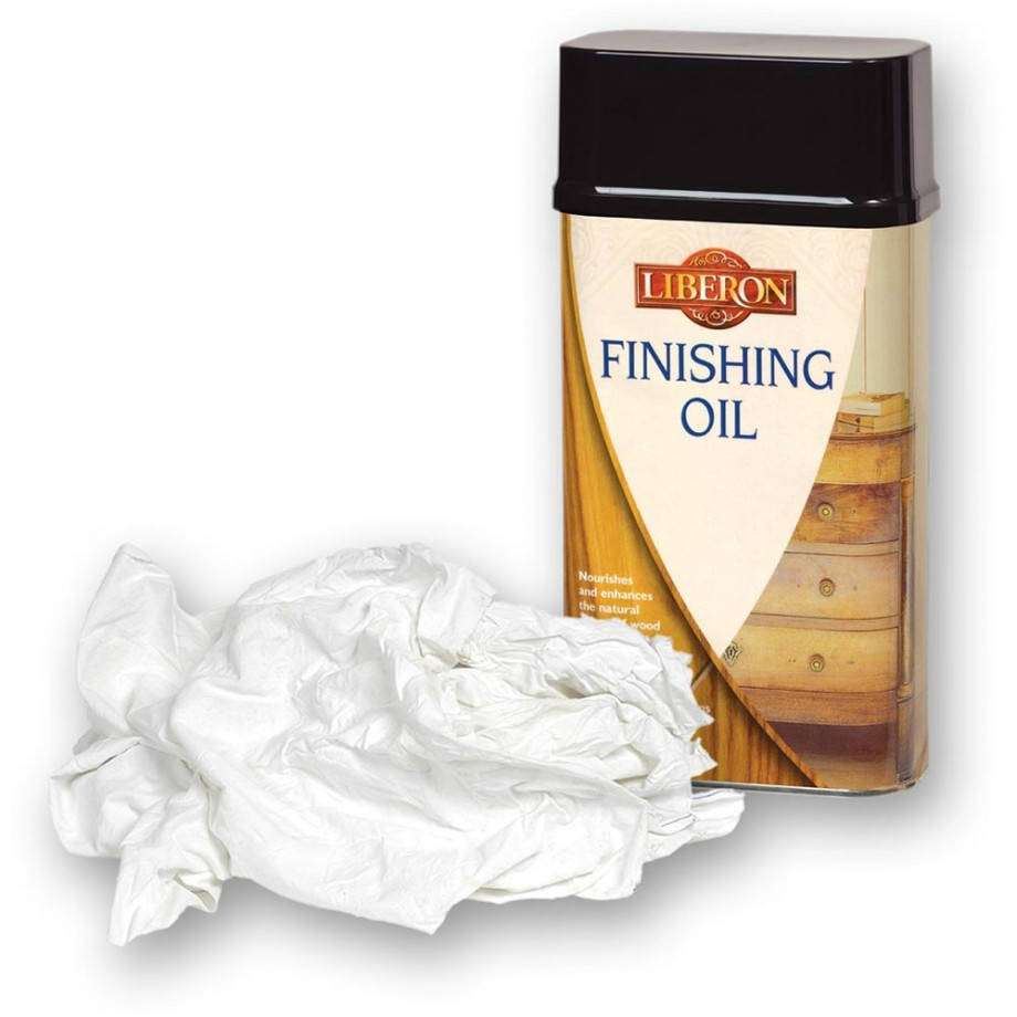 Liberon Finishing Oil & Cotton Rags - PACKAGE DEAL