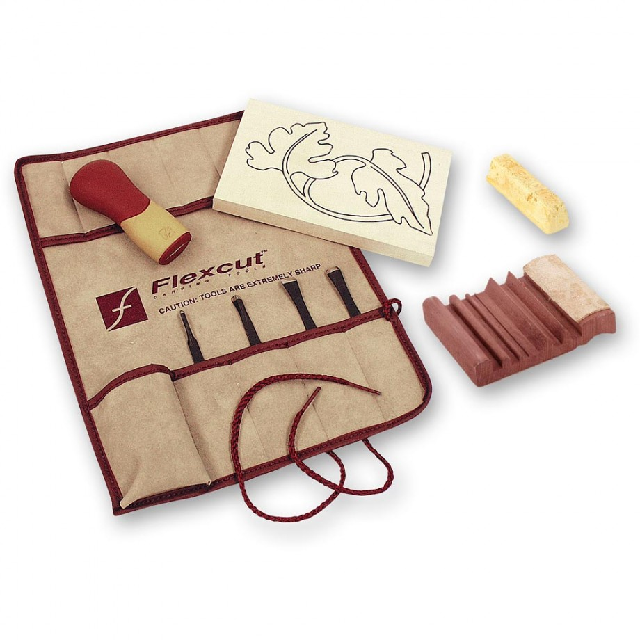 Flexcut Palm Tool SK Travel Set & SlipStrop - PACKAGE DEAL
