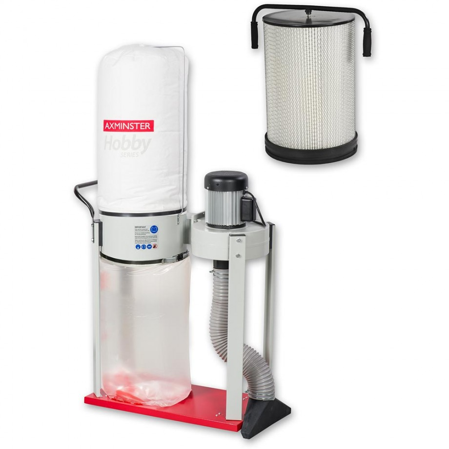 Axminster Hobby Series AWEDE2 Extractor &  Filter Cartridge - PACKAGE DEAL