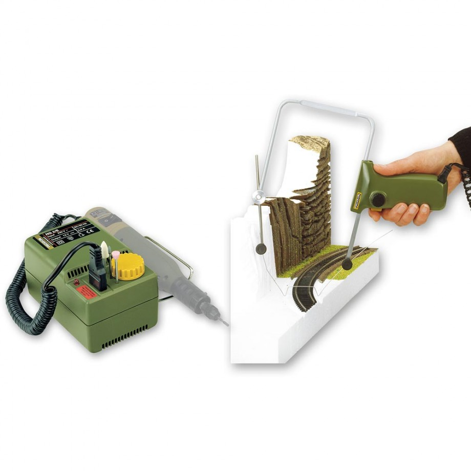 Proxxon 12/E Hot Wire Cutter 12V DC & NG2/E Mains Adaptor - PACKAGE DEAL