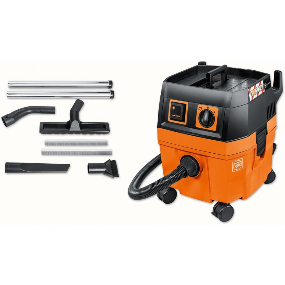 FEIN Dustex 25L Wet & Dry Extractor & Floor Cleaning Kit - PACKAGE DEAL