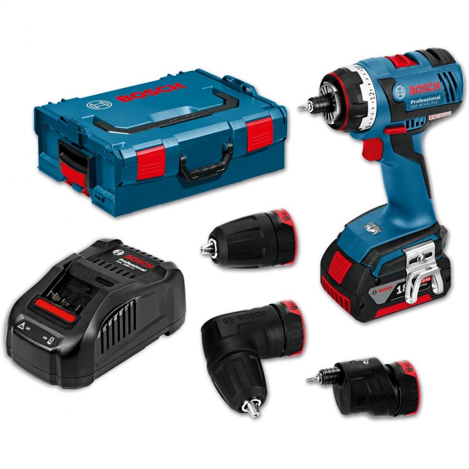 bosch gsr 18 v ec fc2 cordless flexiclick drill 18v 4 0ah. Black Bedroom Furniture Sets. Home Design Ideas