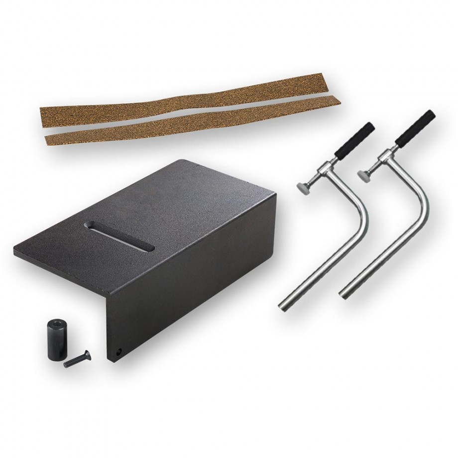Sjobergs Anvil, 2x Holdfast ST03 & Jaw Protectors - PACKAGE DEAL