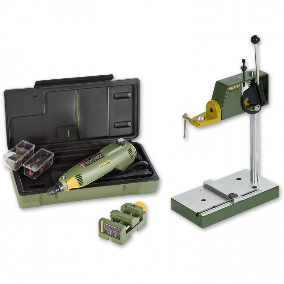 Proxxon FBS 240E Multitool, Drill Stand &  Machine Vice - PACKAGE DEAL