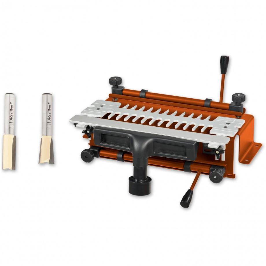 """UJK Technology Dovetail Jig & Axcaliber Cutter Set (1/2"""" shank) - PACKAGE DEAL"""