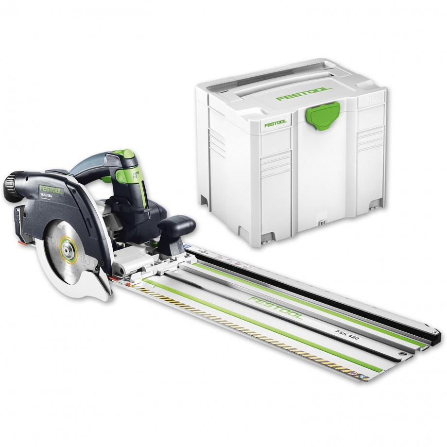 Festool HK55 EBQ Plus Circular Saw & FSK420 Guide Rail 230V