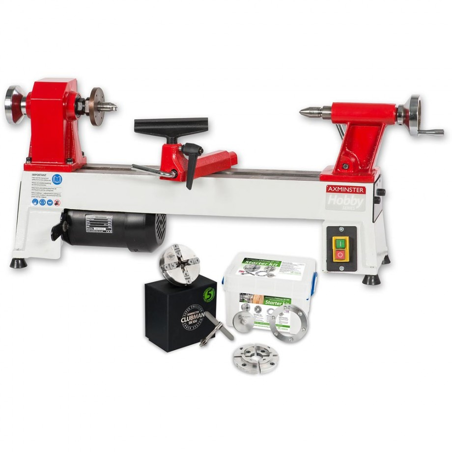 Axminster AWSL Woodturning Lathe & Woodturning Starter Package - PACKAGE DEAL