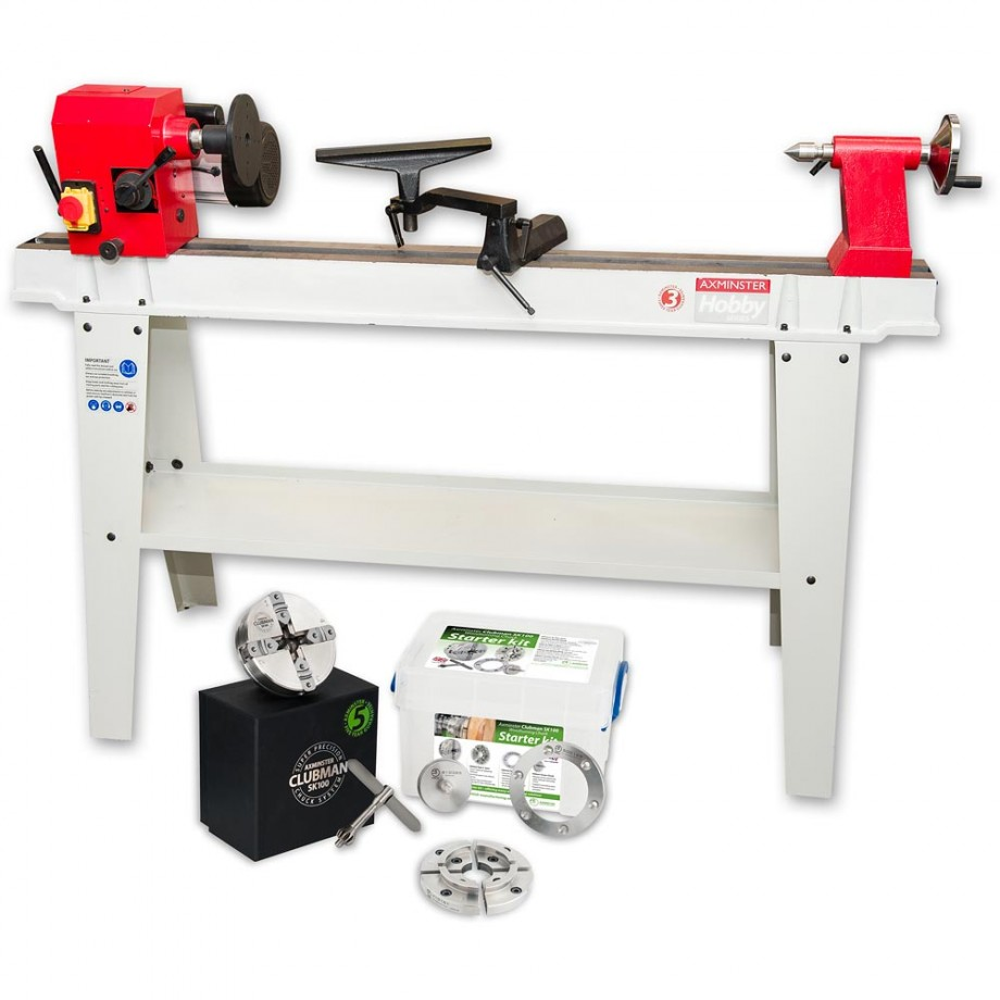 Axminster AWVSL1000 Woodturning Lathe & SK100 Woodturning Starter Package - PACKAGE DEAL