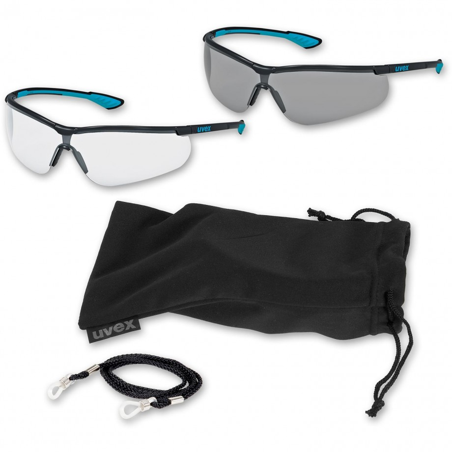 uvex Sportstyle Clear & Sunglare Safety Specs & Extras - PACKAGE DEAL