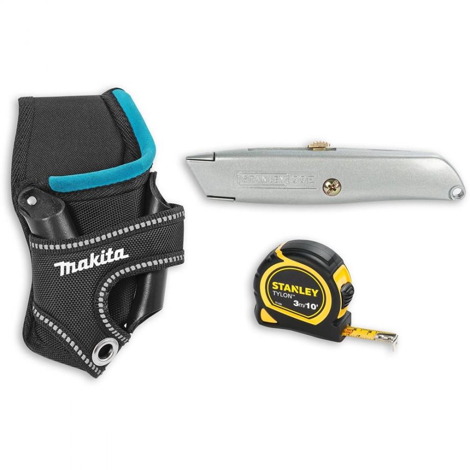 Makita Tool Holder, Stanley Knife and Tape Measure