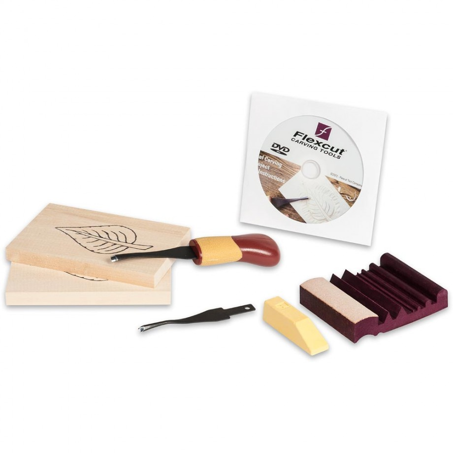 Flexcut Beginner 2-Blade Craft Carver Set Package