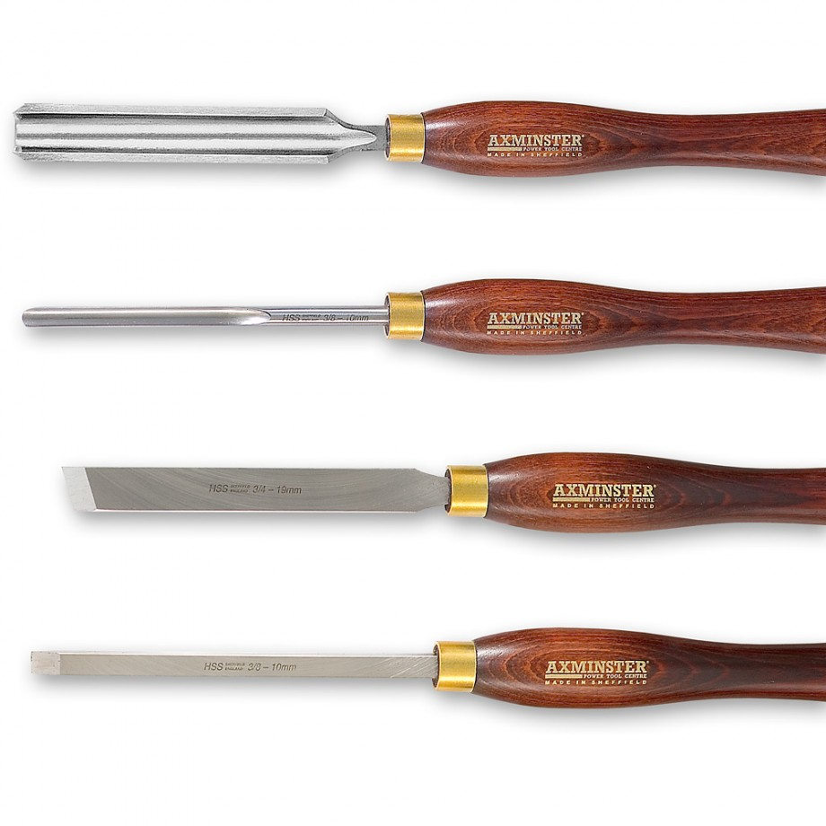 Axminster Famous Four Turning Tool Set - PACKAGE DEAL