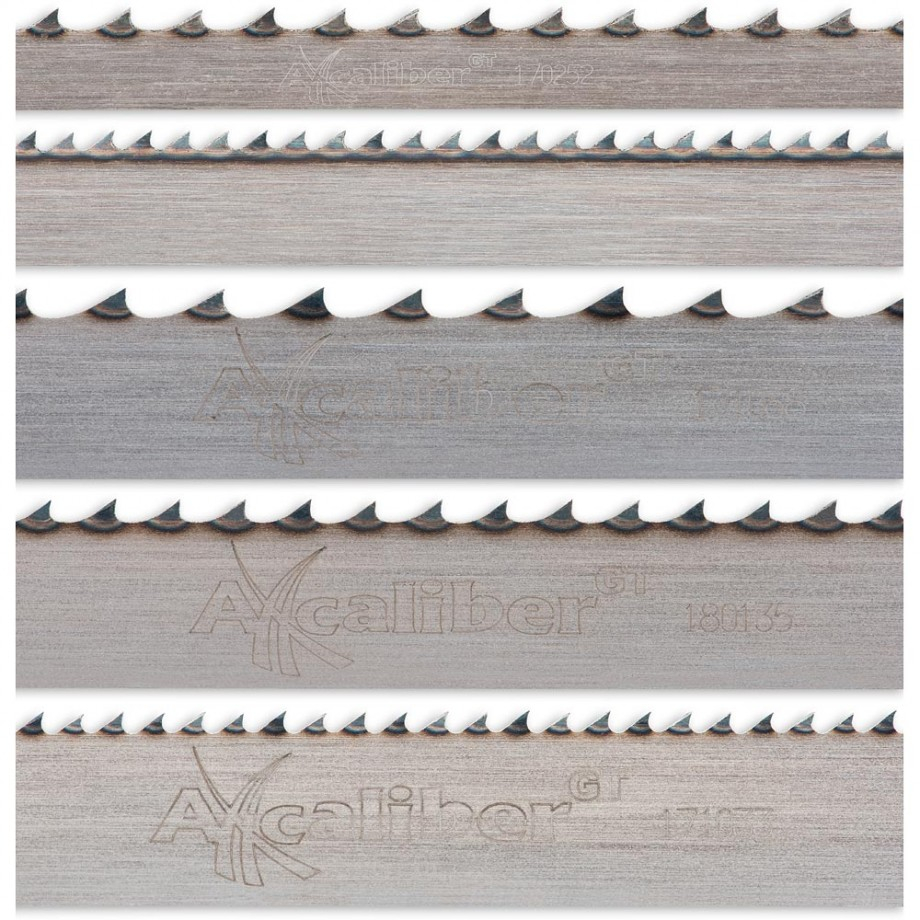"""Axcaliber Pack of 5 Bandsaw Blades - 2,490mm(98"""")"""