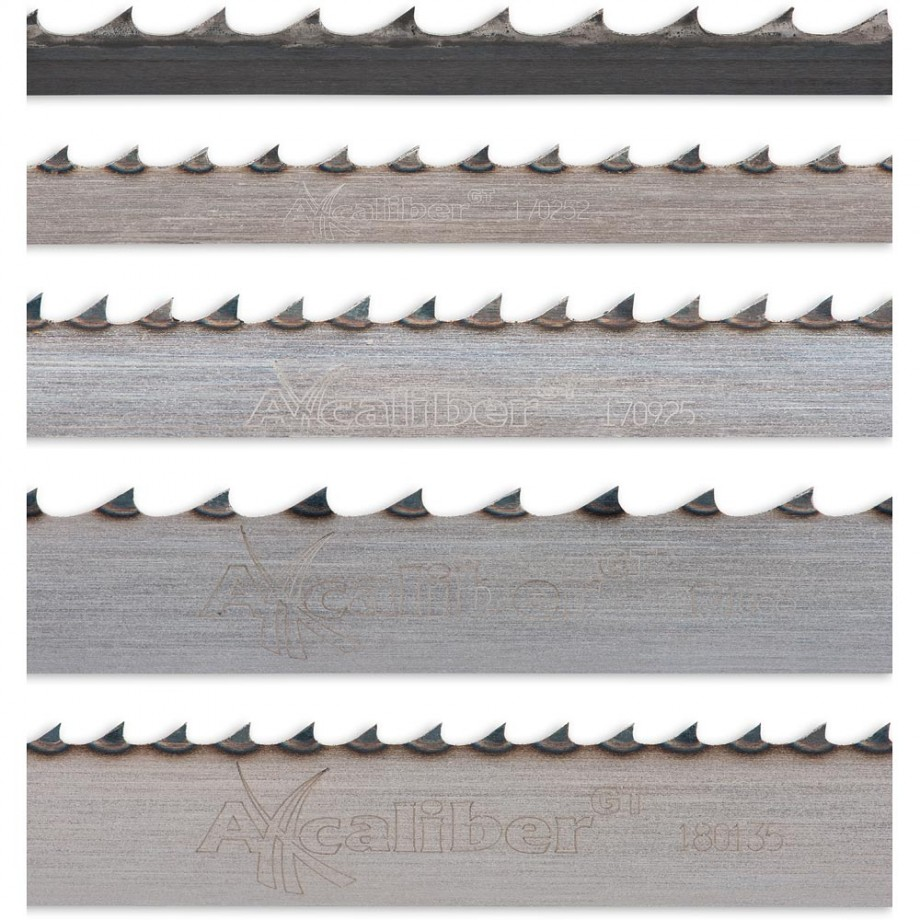 """Axcaliber Pack of 5 Bandsaw Blades - 2,270mm(89"""")"""