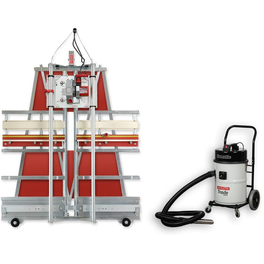 Safety Speed Cut C4 Panel Saw & NV750 Workshop Vacuum Extractor - PACKAGE DEAL