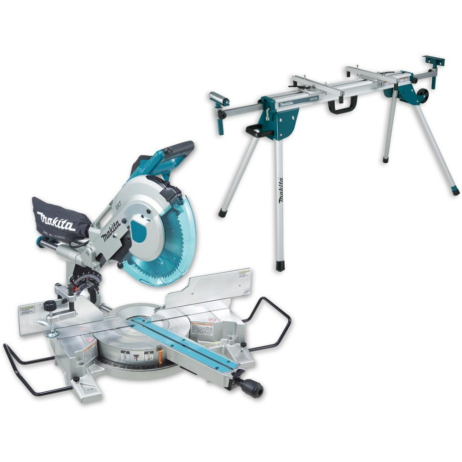 Makita LS1216L Mitre Saw with DEAWST06 Legstand 110V