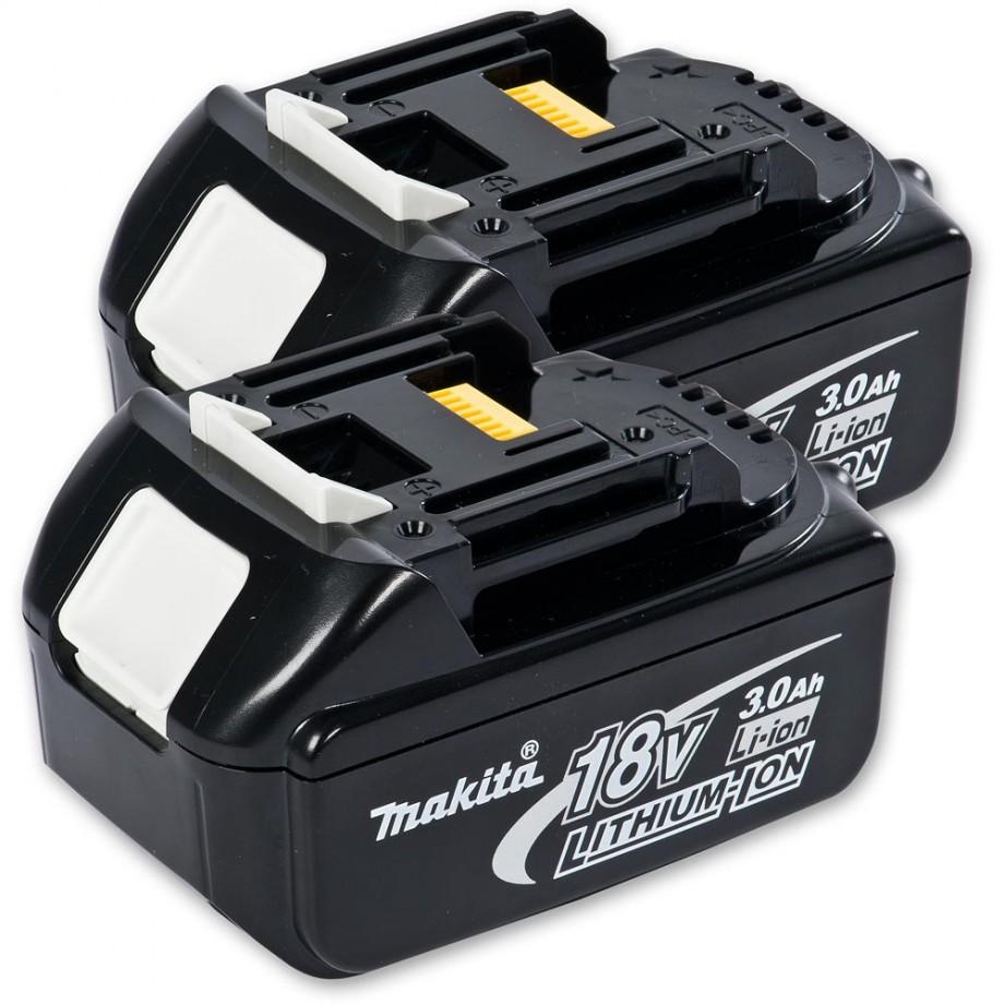 Makita BL1830 Li-Ion Battery 18V (3.0Ah) x 2 - PACKAGE DEAL
