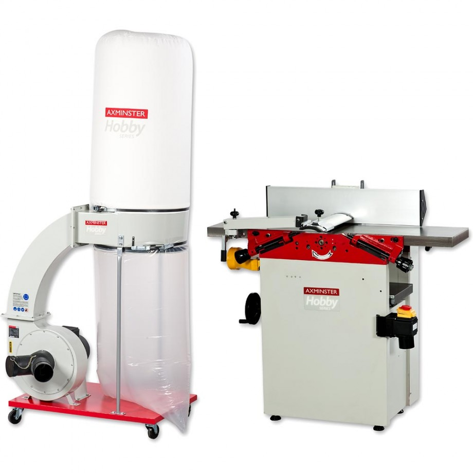 Axminster AH106PT Planer Thicknesser & FM300BC Extractor - PACKAGE