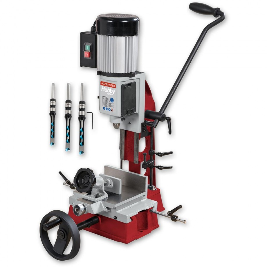 Axminster Hobby Series AW16BMST2 Bench Morticer & 3 Chisels & Bits