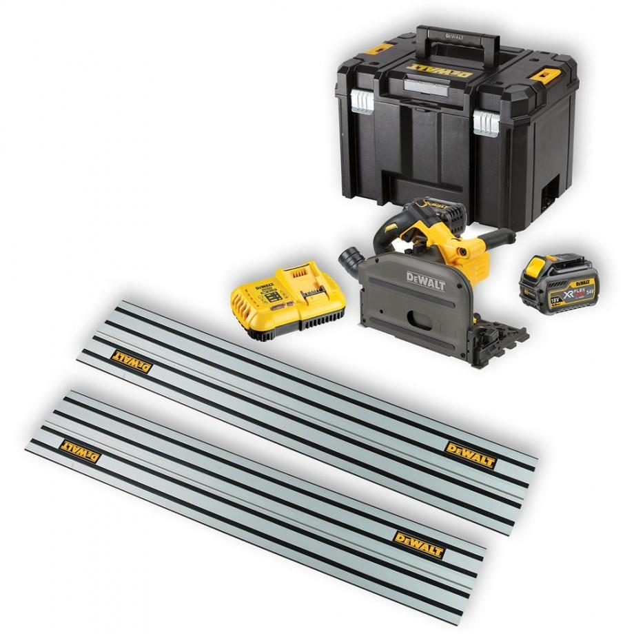 DeWALT DCS520T2 XR Plunge Saw 54V Kit with 2 Rails